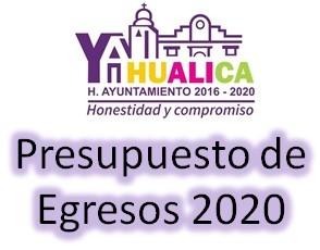 Presupuesto de Egresos 2020